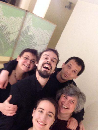 New member Žiga Šercer-percussions